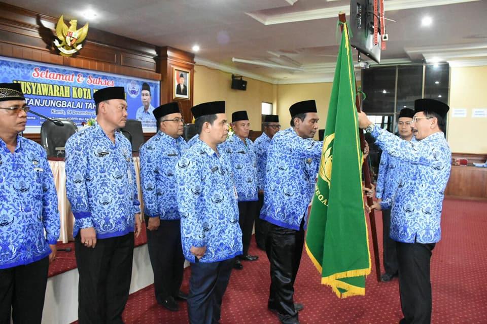 Kadis Perkim Menghadiri Pelaksanaan Musyawarah IV KORPRI Kota Tanjungbalai